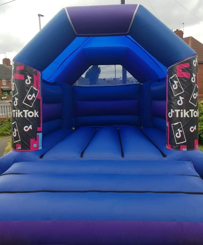 tik tok bouncy castle hire leeds